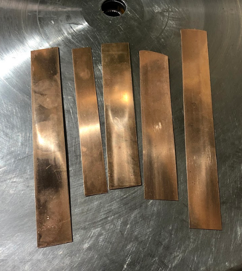 bronze strip tests